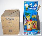 Peanuts Pez Counter Display