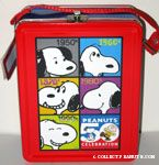 Snoopy through the decades lunchbox