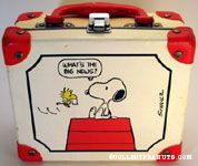 Woodstock bringing Snoopy a letter 'What's the big news?' Lunch Box