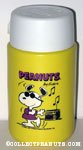 Snoopy dancing next to boom box Thermos