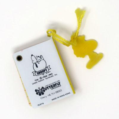 Snoopy Mini Telephone Book - Back