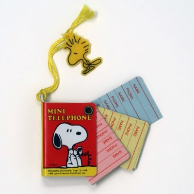 Snoopy Mini Telephone Book - Page sampling