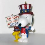 Uncle Sam Snoopy and Woodstock Ornament
