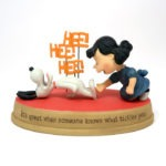 Lucy Tickling Laughing Snoopy Figurine