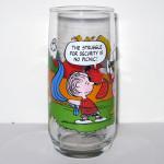 Linus Security McDonald's Camp Snoopy Glass