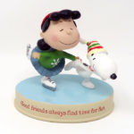 Lucy & Snoopy skating Figurine