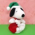 Snoopy Holding Stocking Christmas Plush