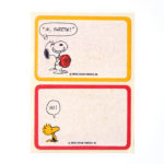 Snoopy Dogdish and Woodstock Name Tags